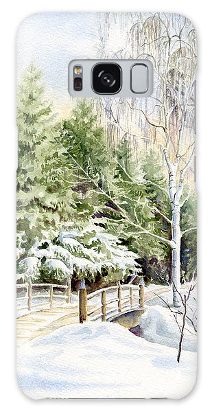 Garden Landscape Winter Galaxy Case