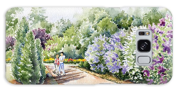 Garden Lilacs Galaxy Case