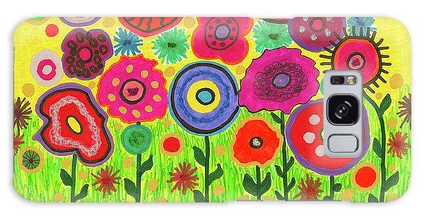 Garden Of Blooming Brilliance Galaxy Case