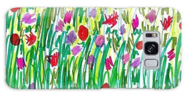 Garden Of Flowers Galaxy Case