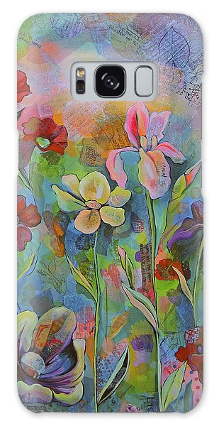 Garden Of Intention - Triptych Center Panel Galaxy Case