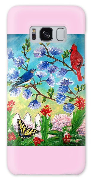 Garden View Birds And Butterfly Galaxy Case