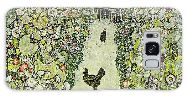 Chicken Galaxy Case - Garden With Chickens by Gustav Klimt