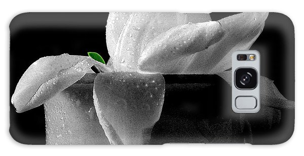 Gardenia Galaxy Case - Gardenia In Coffee Cup by Silvia Ganora