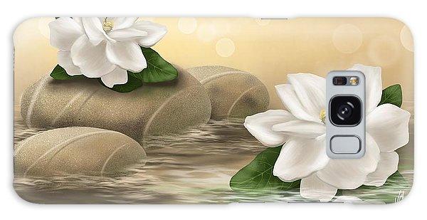Gardenia Galaxy Case - Gardenia by Veronica Minozzi
