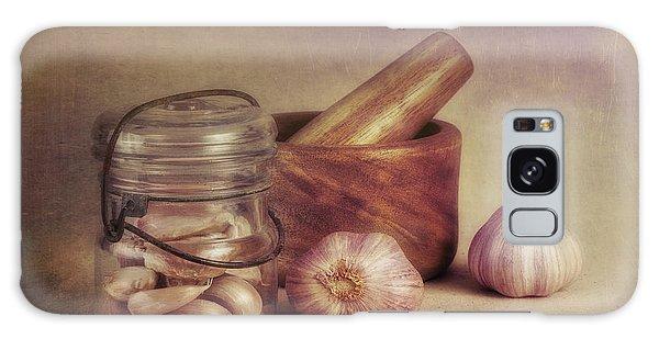 Herbs Galaxy Case - Garlic In A Jar by Tom Mc Nemar