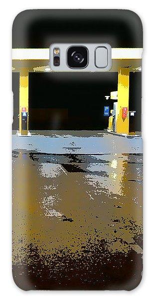 Gas Pumps At Night Galaxy Case by Ari Salmela