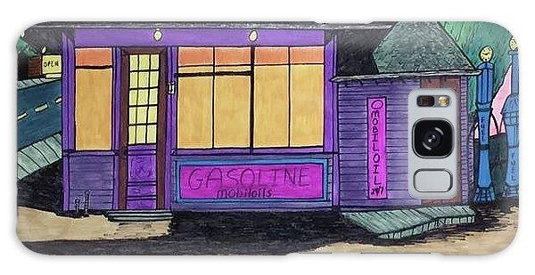 Gasoline Alley Mobil Oil. Historic Menominee Art. Galaxy Case by Jonathon Hansen