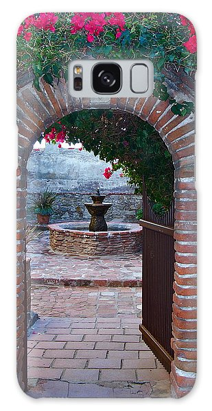 Gate To The Sacred Garden And Bell Wall Mission San Juan Capistrano California Galaxy Case by Karon Melillo DeVega