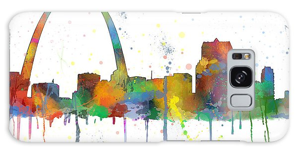 St Louis Mo Galaxy Case - Gateway Arch St Gateway Arch St Loius Missouri Skyline Missouri Skyline by Marlene Watson