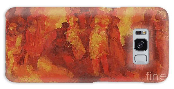Abstract People Galaxy Case - Gathering by Bayo Iribhogbe