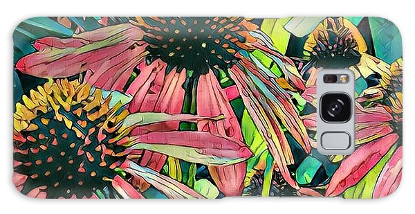 Gathering Of Coneflowers Galaxy Case by Diane Miller