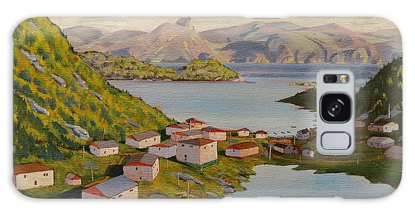 Galaxy Case featuring the painting Gaultois Village Newfoundland by David Gilmore