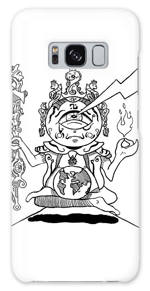 Gautama Buddha Black And White Galaxy Case