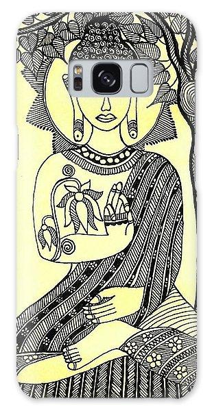 Madhubani Galaxy Case - Gautama Buddhha Under Mahabodhi Tree by Shishu Suman