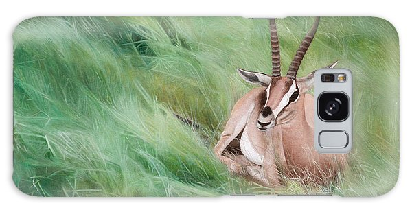 Gazelle In The Grass Galaxy Case