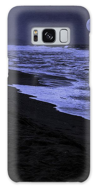 Gazing At The Moon Galaxy Case by Diane Schuster