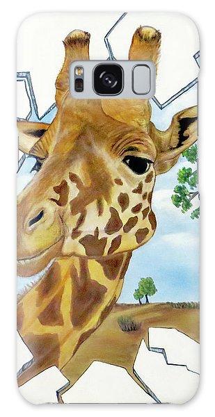 Gazing Giraffe Galaxy Case by Teresa Wing