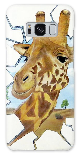 Galaxy Case featuring the painting Gazing Giraffe by Teresa Wing