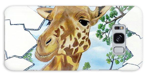 Gazing Giraffe Galaxy Case