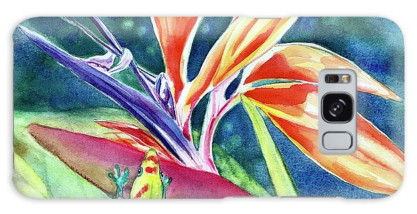 Gecko On Bird Of Paradise Galaxy Case