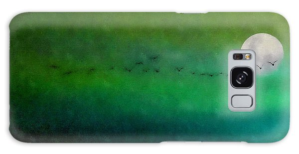 Geese In Flight  Galaxy Case