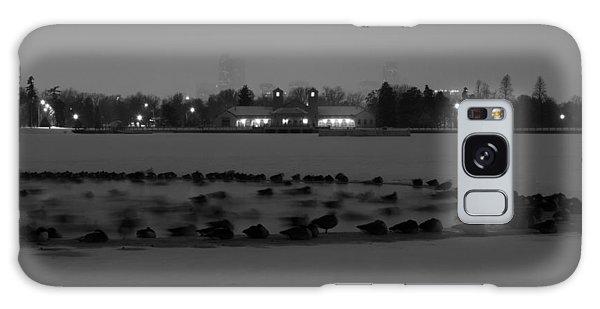 Geese In Frozen Lake Galaxy Case