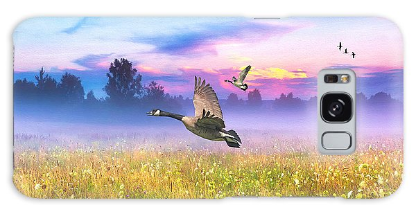 Goose Galaxy Case - Geese In The Mist by Laura D Young