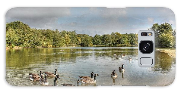 Geese On The Lake Hdr Galaxy Case