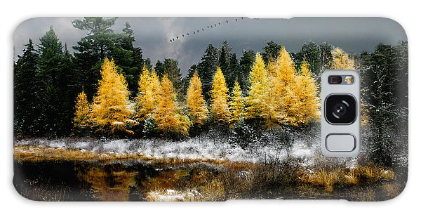 Geese Over Tamarack Galaxy Case