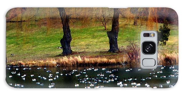 Geese Weeping Willows Galaxy Case