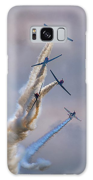 Galaxy Case featuring the photograph Geico Skytypers Tree Of Smoke by Rick Berk