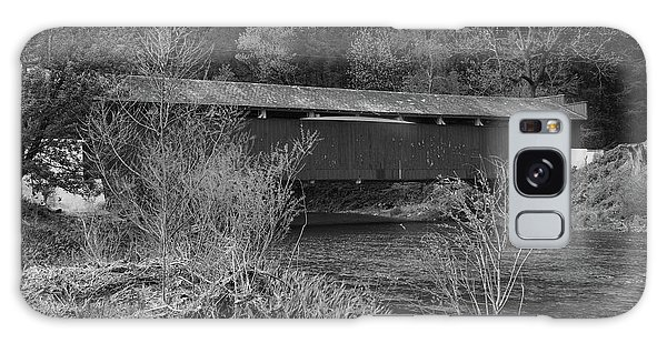 Geiger Covered Bridge B/w Galaxy Case
