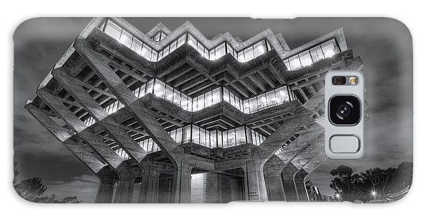 Geisel Library In Black And White Galaxy Case