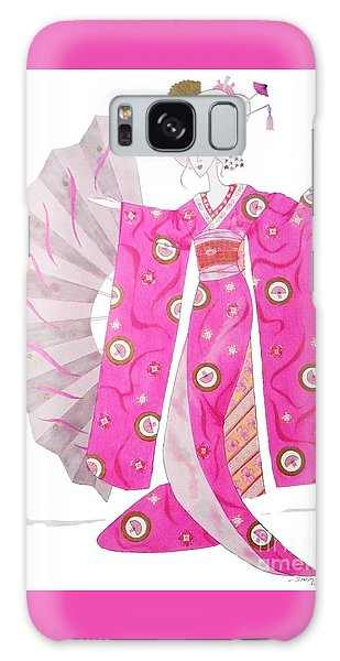 Geisha Barbie -- Whimsical Geisha Girl Drawing Galaxy Case