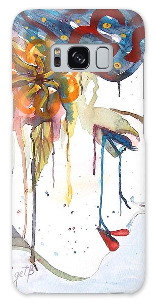 Geisha Soul Watercolor Painting Galaxy Case