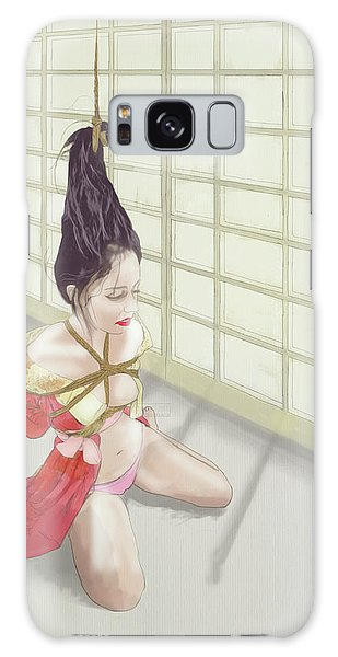 Galaxy Case featuring the mixed media Geisha by TortureLord Art