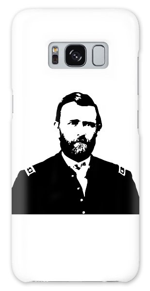 Us Civil War Galaxy Case - General Grant Black And White  by War Is Hell Store