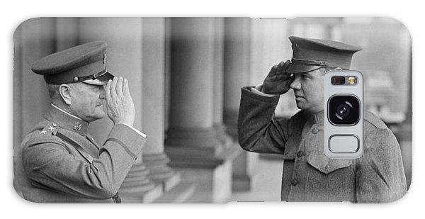 General John Pershing Saluting Babe Ruth Galaxy Case