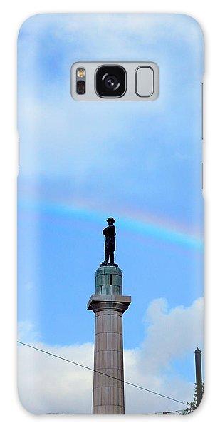 General Robert E. Lee Mounment In Retro Spectrum Galaxy Case
