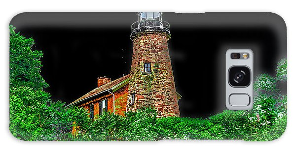 Genesee Lighthouse Galaxy Case by William Norton