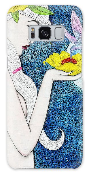 Galaxy Case featuring the mixed media Genesis by Natalie Briney