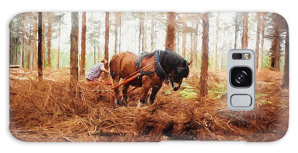 Gentle Giant - Horse At Work In Forest Galaxy Case