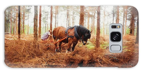Gentle Giant - Horse At Work In Forest Galaxy Case by Jayne Wilson