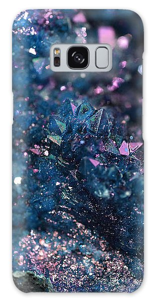 Geode Abstract Teal Galaxy Case