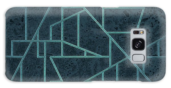 Geometric Abstraction In Blue Galaxy Case
