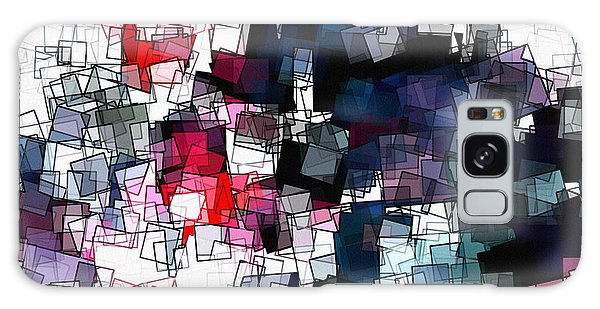 Geometric Skyline / Cityscape Abstract Art Galaxy Case by Ayse Deniz