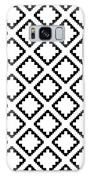 Geometricsquaresdiamondpattern Galaxy Case by Rachel Follett