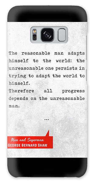 George Bernard Shaw Quotes - Man And Superman - Literary Quotes - Book Lover Gifts - Typewriter Art Galaxy Case