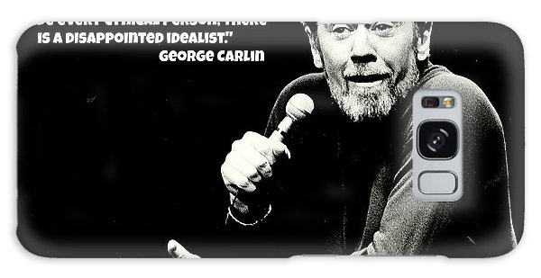 George Carlin Art  Galaxy Case by Pd
